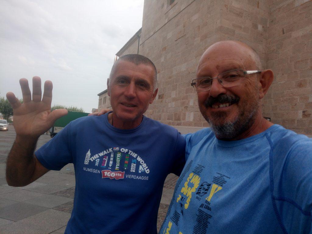 Con Eugenio, peregrino italiano.