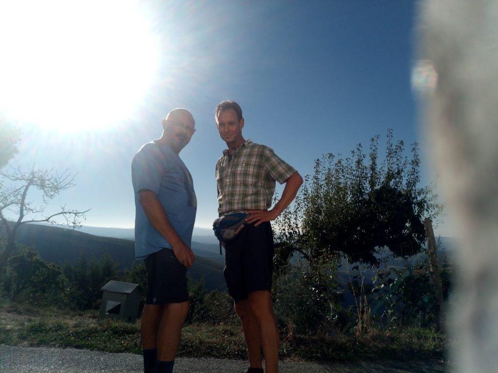 Un selfie con Carsten, en las alturas