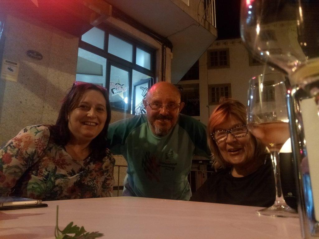 Un selfie de silbidito con María y Analía