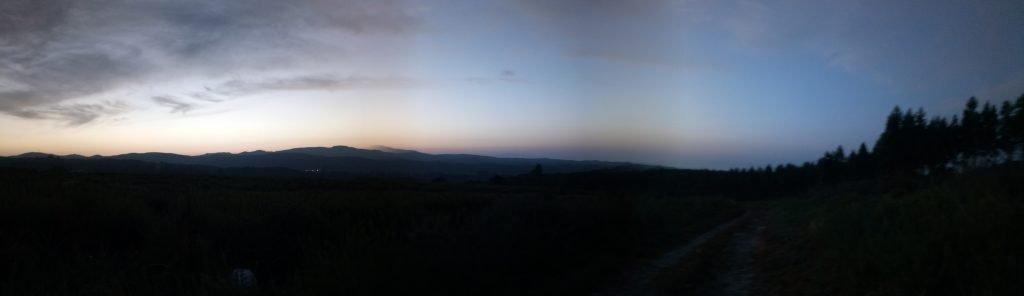 Panorámica antes de amanecer