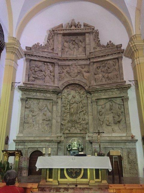 Retablo de alabastro de la Iglesia de la Asunción de Nuestra Señora. Escatrón