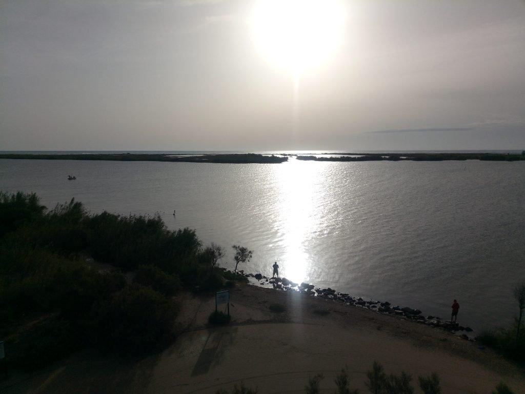 El Ebro entrando en el mar