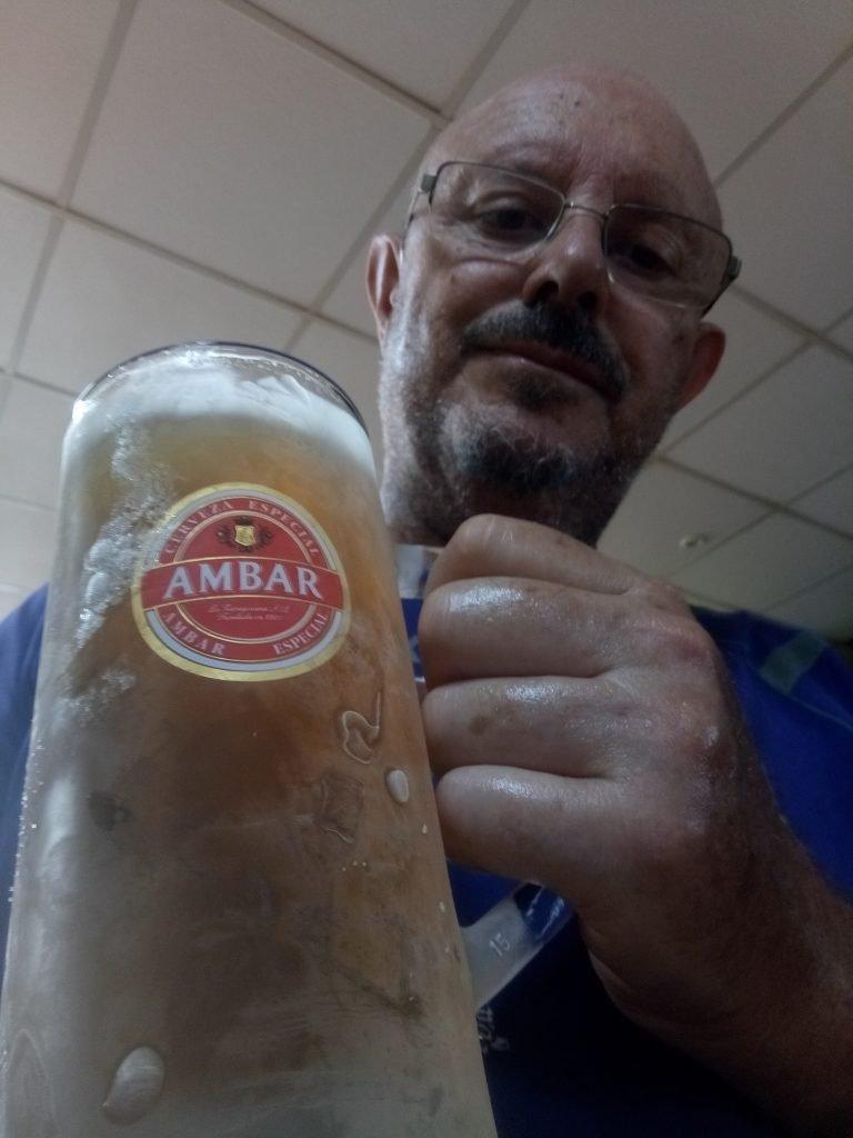 Primera cerveza en Escatrón