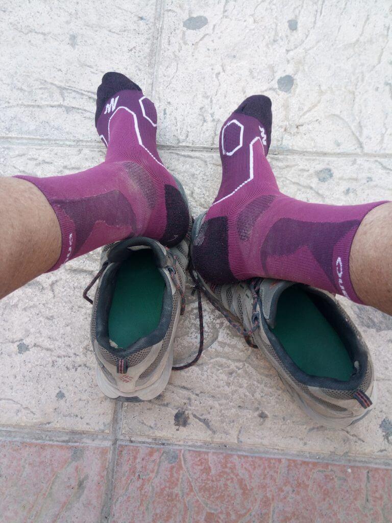 Ventilando los calcetines en Ribaforada