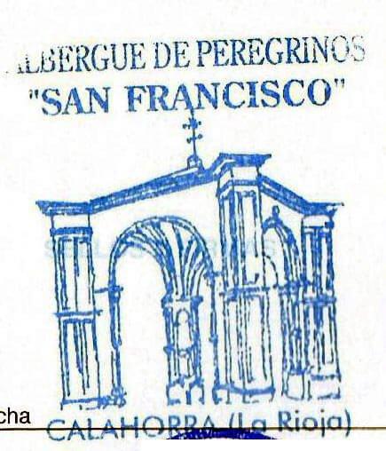 Sello del albergue de peregrinos San Francisco en Calahorra