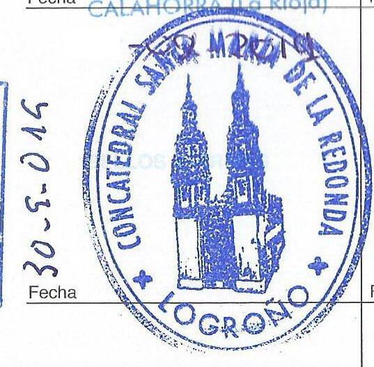 Sello de la Concatedral de Santa María de la Redonda, en Logroño.