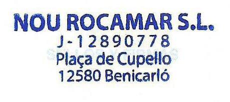 Sello del Hotel Nou Rocamar ¿Benicarló?. San Carlos de la Rápita